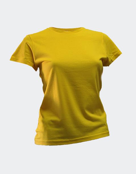 camiseta-señora-chica-basica-algodon-barata-sols-miss-amarillo
