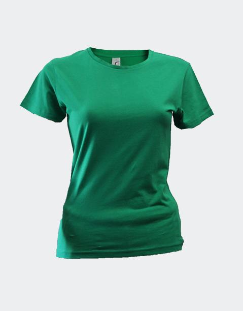 camiseta-señora-chica-basica-algodon-barata-sols-miss-rojo-verde-billar-pradera